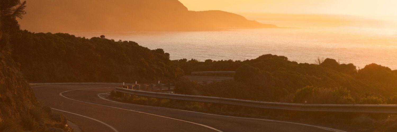 Mit dem Wohnmobil durch Australien - Ausblick bei Sonnenuntergang