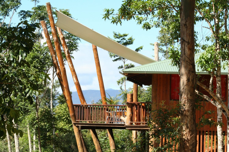 Das Wilderness Retreat sitzt inmitten des kühl, tropischen Regenwalds der Atherton Tablelands.
