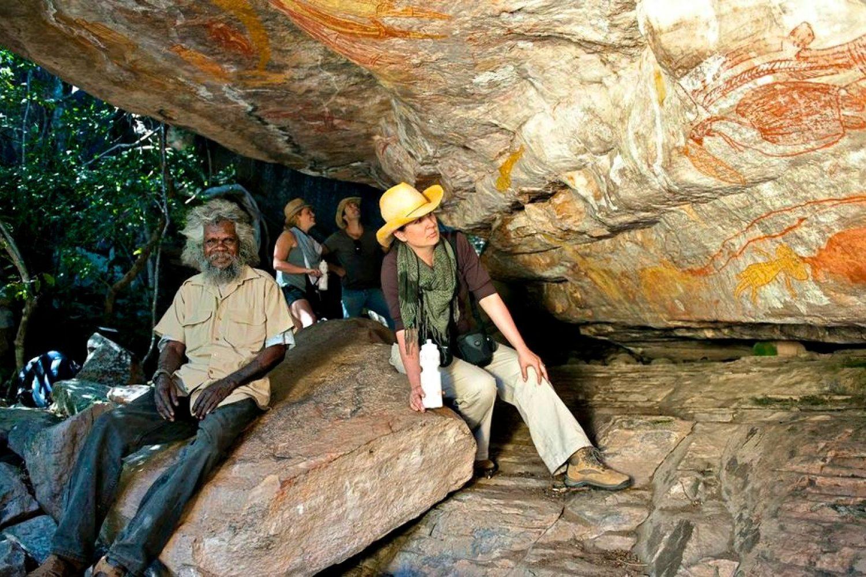 Das Rote Zentrum Australiens - Aboriginal Felsenmalerei