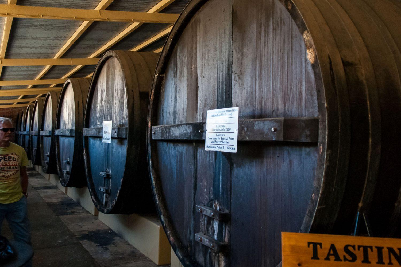 Barossa Valley: Alte Weinfässer
