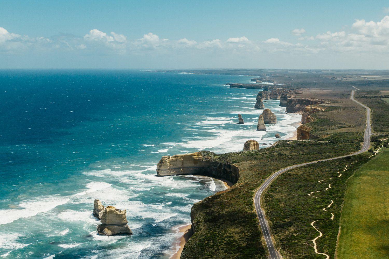 Great Ocean Road: 12 Apostles Luftaufnahme