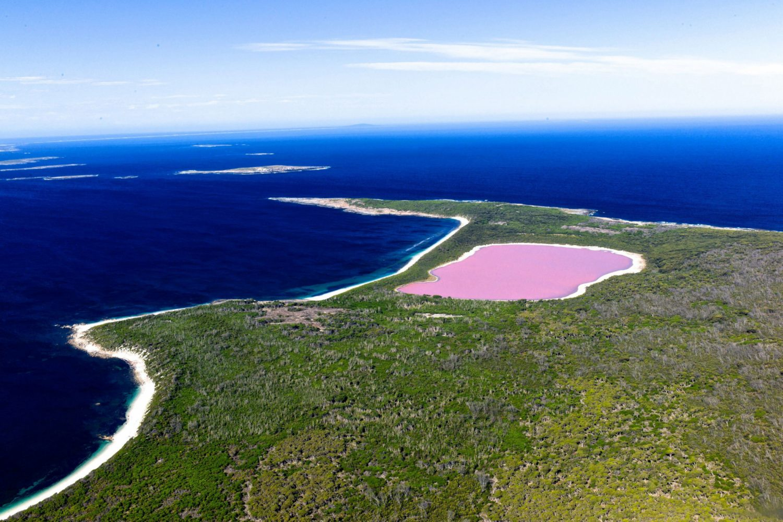 Australien Urlaub: Westaustralien - Lake Hillier nahe Esperance