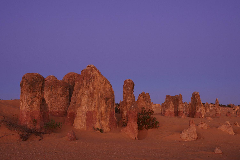 Australien Urlaub: Nambung Nationalpark - Pinnacles im Abendlicht
