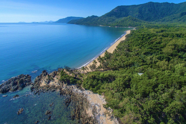 Thala Beach Lodge aus der Luft