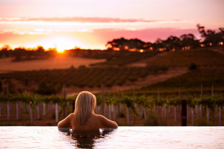 The Louise Barossa Valley: erfrischendes Bad während des Sonnenuntergangs