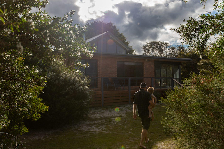 Das Sandpiper Ocean Cottage liegt versteckt hinter den Dünen