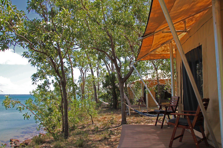Safari Tour im Top End - Übernachten in luxuriösen Safarizelten