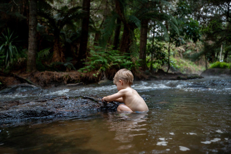 Baden in der Natur: Kerosene Creek bei Rotorua