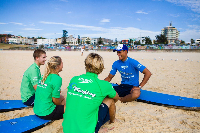 Surfen lernen am Bondi Beach mit Lets Go Surfing
