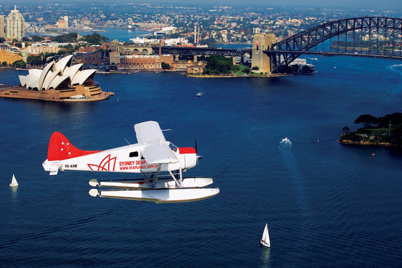 Het vliegtuig van Sydney Seaplanes