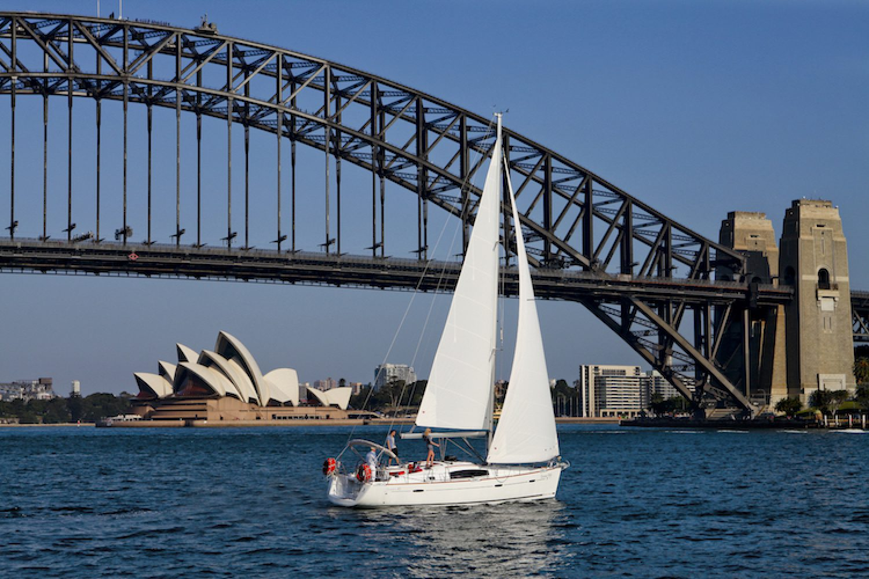 Zeiltocht door de haven van Sydney