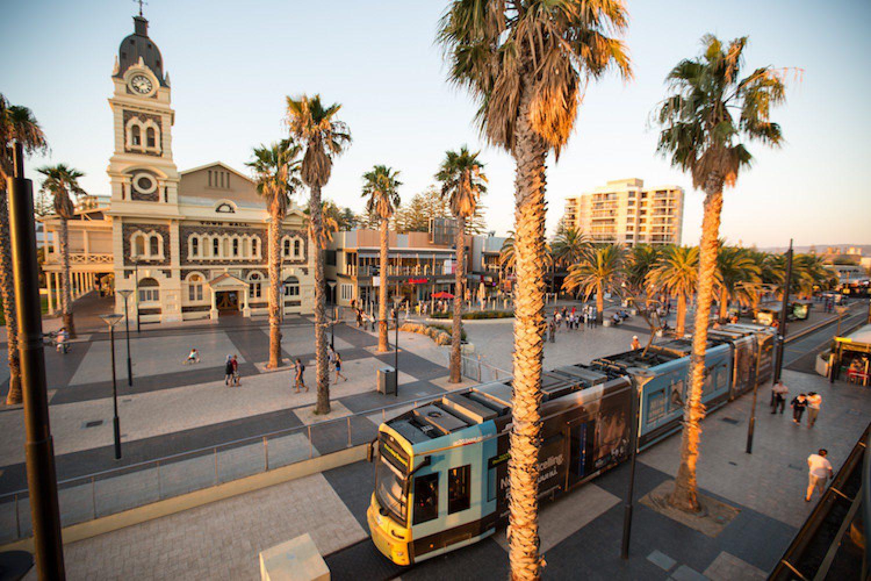 De stad Adelaide in het zuiden van Australië
