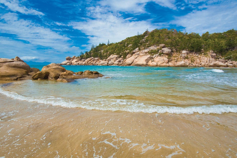 Eén van de stranden van Magnetic Island