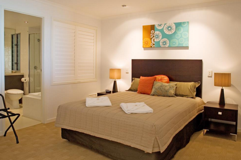 De slaapkamer in het appartement van Marina Shores