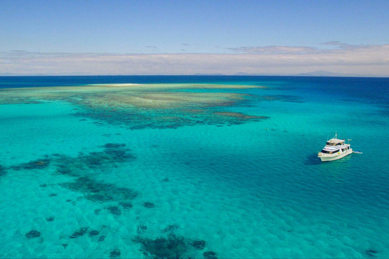 De Reef Goddess boot op het Great Barrier Reef