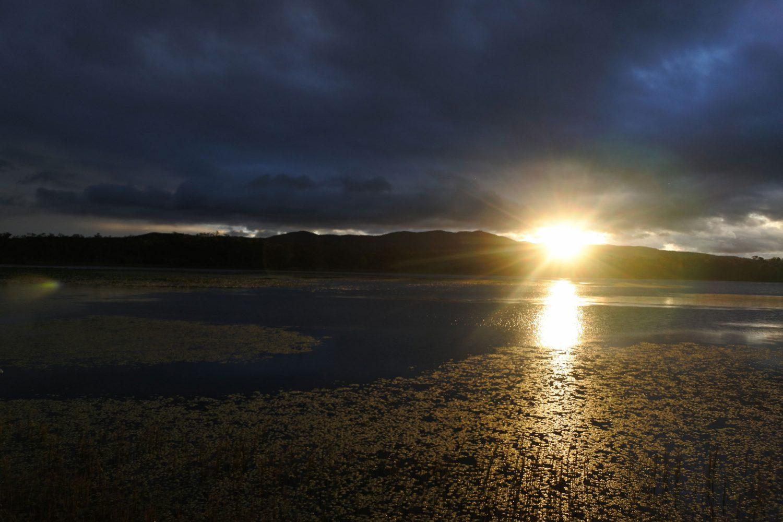 Zonsondergang in de Mareeba Wetlands