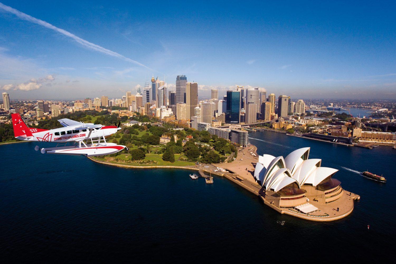 Sydney aus der Luft entdecken bei einem Rundflug über die Stadt mit Sydney Seaplanes