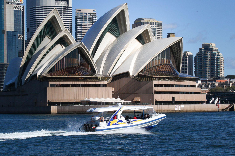 Beim Whale Watching in Sydney ist auch das Opernhaus ein Highlight der Tour
