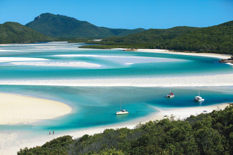 Whitehaven Beach bij Whitsundays in Australië
