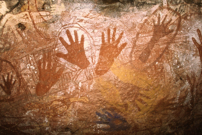 Rotsschildering van de Aborginal in Australië