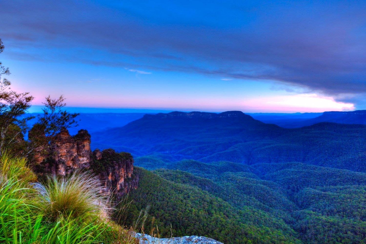 Australien Sydney Blue Mountains Felsformation Three Sisters