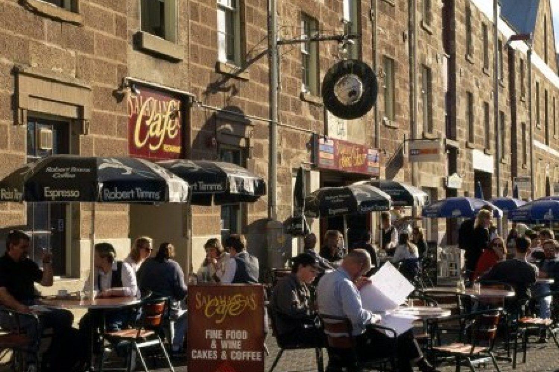 Hobart: Historische Hafenfront am Salamanca Place