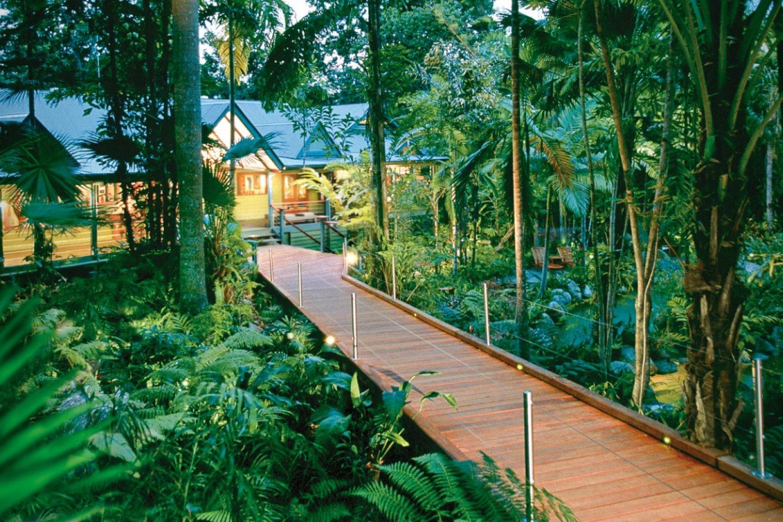 Silky Oaks Lodge: Zugang durch den Regenwald