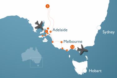 Luxusreise Südaustralien Landkarte