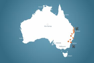 Sydney To Noosa 12131 12301