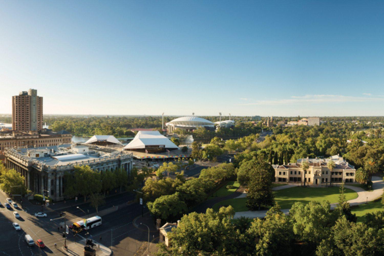 Blick über Adelaide