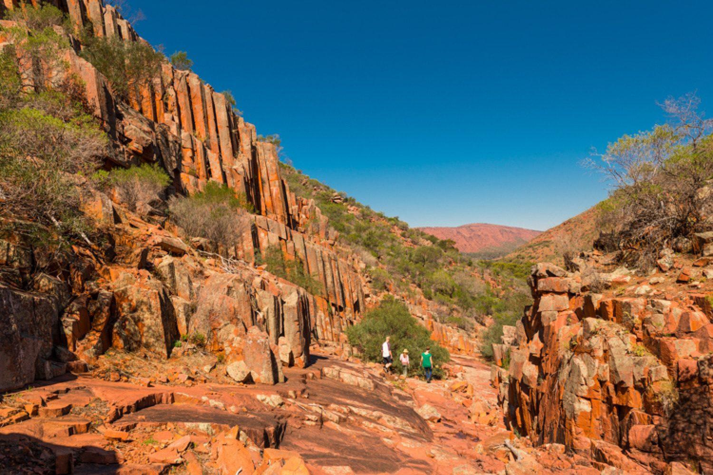 Zum Sonnenuntergang besuchen Sie die Organ Pipe Rocks, die wie riesige, rote Orgelpfeifen aussehen.