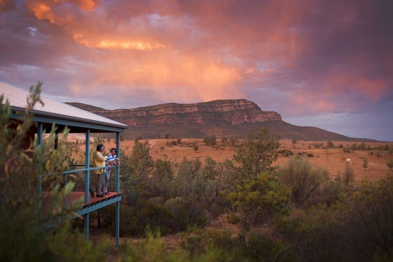 Ursprünglich wurden auf der Station Schafe gezüchtet. Heute bietet die Farm eine ideale Unterkunftsbasis, um die Flinders Ranges zu entdecken.