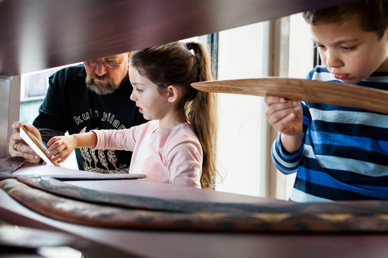 Melbourne bietet auch für Kinder ein großes Angebot an Aktivitäten - wie hier in der interaktiven Ausstellung über Geschichte und Kultur der Aborigines im Koorie Heritage Trust.