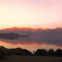 Teaser Manapouri Cathedral Peaks Bed Breakfast Panorama Sunset