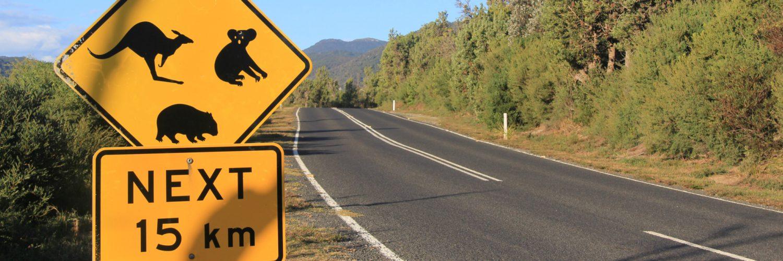 Australien Road Sign