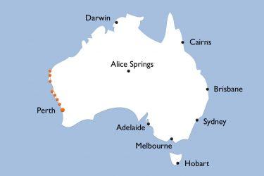 Karte Westaustralien Entlang Der Korallenkueste