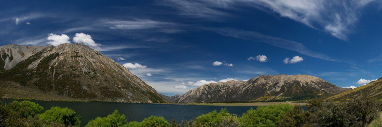Nieuw Zeeland Bergen Met Zon