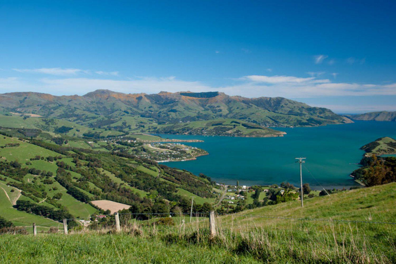 Eine gemütliche Fahrtstrecke südöstlich von Christchurch entfernt - auf der Banks Peninsula - befindet sich die interessanteste Vulkanlandschaft der Südinsel.