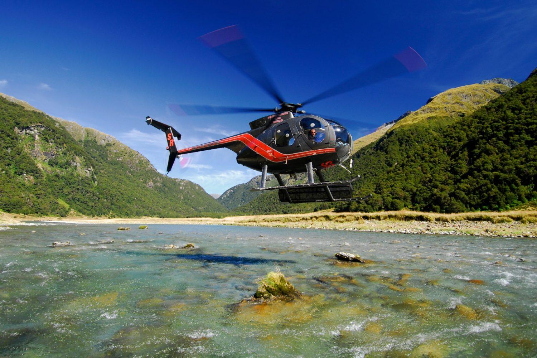 Entdecken Sie den Mt Aspiring Nationalpark aus der Luft mit dem Helikopter