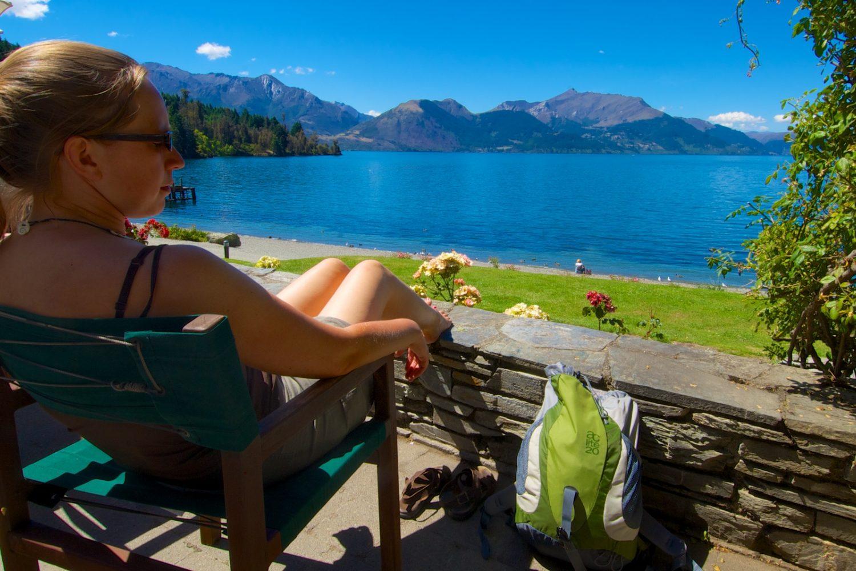Entspannen am Lake Wakatipu in Queenstown
