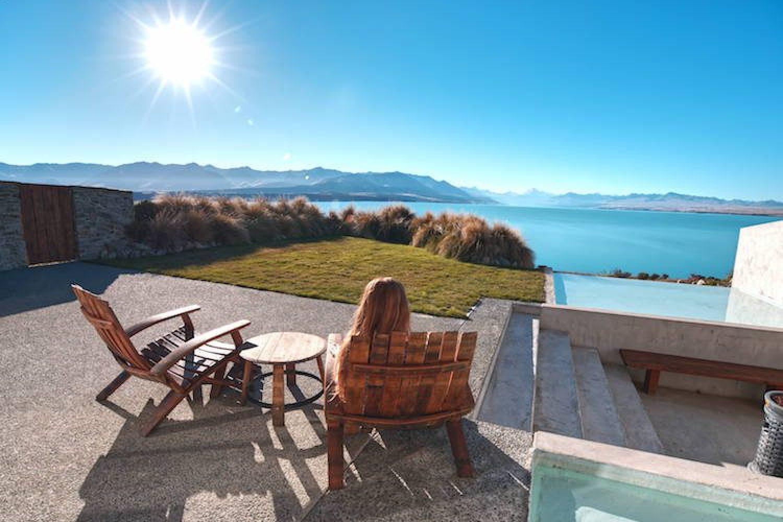 Von Ihrer Unterkunft aus haben Sie einen wunderschöner Ausblick auf den Lake Pukaki.