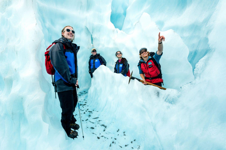 Bei einer Tour am Fox Glacier gibt es viel zu entdecken