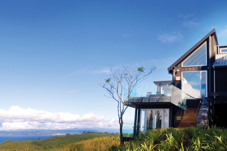 Acacia Cliffs Lodge met uitzicht op Lake Taupo