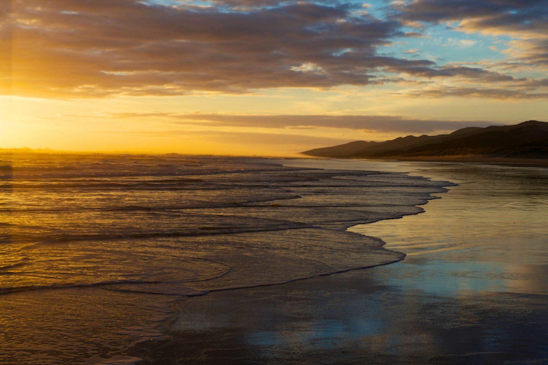 Afgelegen strand bij Bay of Islands