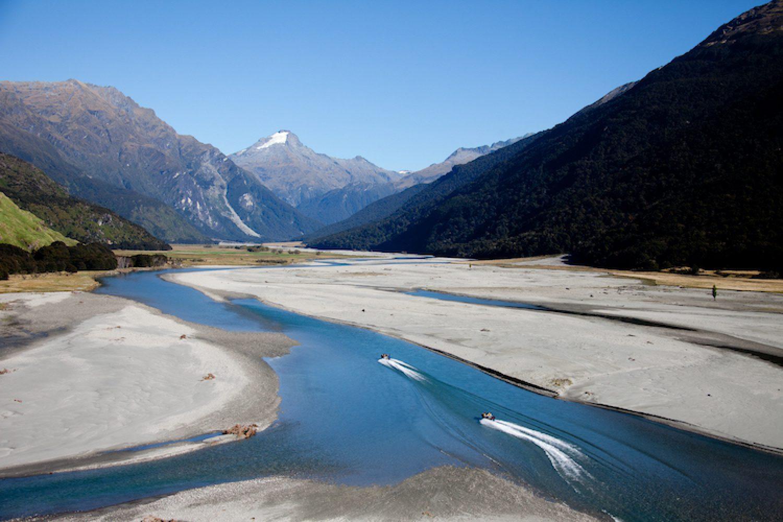 Wilkin Jet & Helicopters in Mount Aspiring National Park in Nieuw-Zeeland
