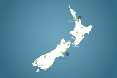 9-weekse sabbatical reis door Nieuw-Zeeland kaart