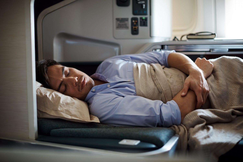 U kunt lekker slapen als u vliegt in Business Class van Cathay Pacific